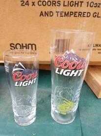 Coores light beer glasses