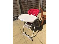 Chicco adjustable high chair