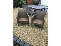 FREE 2 outdoor garden armchairs