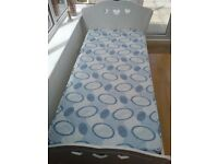 Girls Single White Princess Bed with Mattress and Storage Drawer