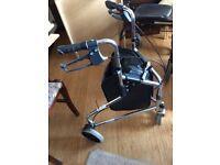 3 Wheel Rollator Walking Frame Foldable