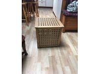 Two Wooden Square Storage Boxes in very good condition