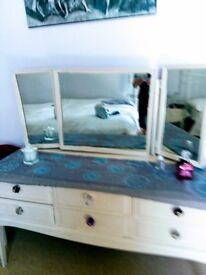 Stag dressing table been painted with chalk paint, maybe needs another coat