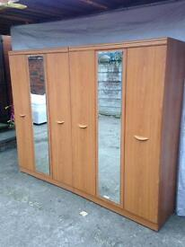 new condition large triple wardrobe + middle mirrors £90 each Good bargain