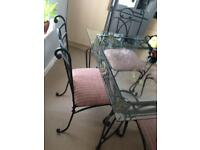 Gorgeous Glass Dining Table and 4 Chairs