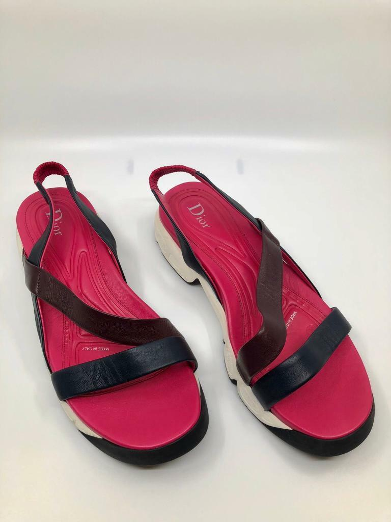 Brand New Christian Dior pink sandals slippers size 40 UK 7 | in London |  Gumtree