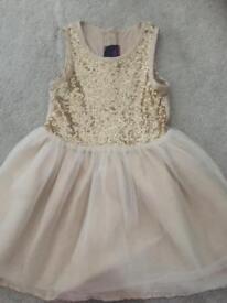 Gold sequinned dress