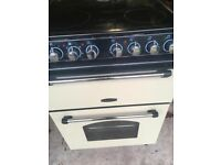 Rangemaster Electric 60cm cream cooker, less than six months old