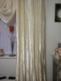luxury silky soft cream curtains 66x72