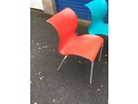 Red dinning chairs, sets of 2. 4 and 6