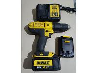 DEWALT DCD776 SET 18V Li-Ion Cordless Drill + charger DCB113 2 batteries all VGC