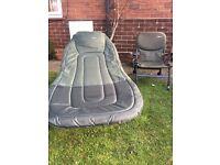 Large JRC carp fishing bed and JRC carp fishing chair
