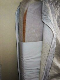 Cot bed matress with spare washable cover