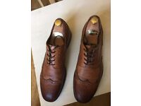 Men's Zara brown leather oxford shoes, very good condition, size 9