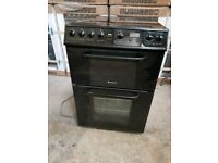 Black Hotpoint Creda A+ Class 60cm Ceramic Cooker With Double Oven