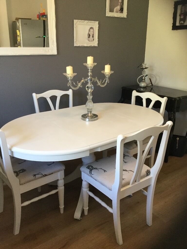 Ducal upcycled drop leaf dining table and chairs in for Upcycled dining table