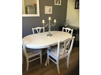 Ducal upcycled drop leaf dining table and chairs