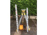 Dumpy,optical builders level,staff,tripod