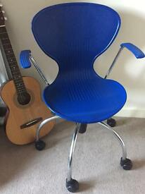 Free Blue Office plastic swivel desk chair