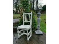 Painted Arts and Crafts Oak Hall Chair