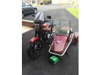 Kawasaki 550 gt 17 years old with only 6500 miles with Matise sidecar came off a goldwing gl 1200