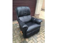 La-Z-Boy leather armchair