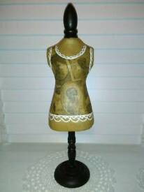 NEXT FRENCH CORSET STYLE, JEWELLERY MANNEQUIN, ON WOOD STAND
