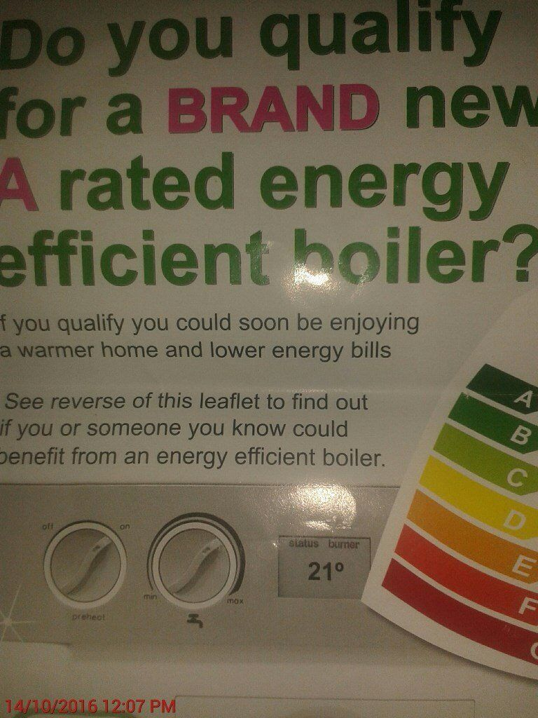 Free A Rated Boiler Blackpool Preston and North west