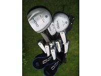DUNLOP LEFT HAND GOLF CLUBS IN BAG WITH STAND