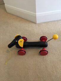 Brio Baby Pull Along Dachshund Dog Toy