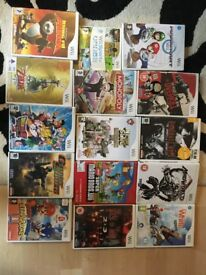 Wii Console + Games and Accessory Bundle