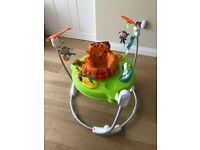 Fisher-Price Rainforest Jumperoo, New-Born Jumperoo- Baby Activity Centre with Music and lights