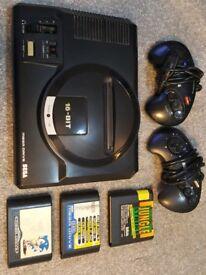 Sega Megadrive with 8 games