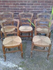 Wicker Seat Wooden Decorative Chair (5x)