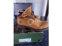 Timberland roll top boots size ten and a half