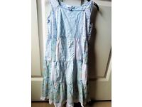 "H&M HENNES GIRLS SUMMER BUNDLE - 2 LONG GYPSY BOHO DRESSES, 2 ""ALPINE SWISS"" STYLE TOPS AGE 6 - 8"