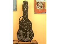 Customised Vintage & Blues Style Acoustic Guitar Hardcase: 'Ragged Glory'