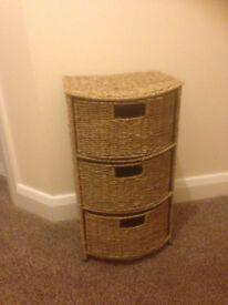 Seagrass Designer Storage Unit 3 drawers