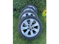 """4 Vauxhall Insignia 17"""" alloy wheels and tyres"""