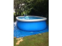 BESTWAY ABOVE GROUND SWIMMING POOL COMPLETE SET UP 18ft