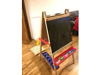 standing Easel white board and black board