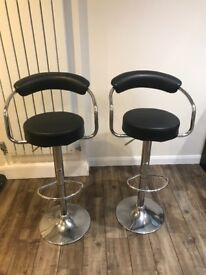 Black bar stools x 2