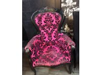 Two Shabby Chic upholstered chairs