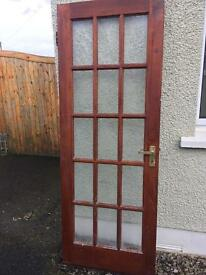 Mahogany single wood door
