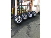 """18"""" 5x100/112 pcd Audi rs8 s8 alloys wheels vw mk4 golf seat Leon t4"""