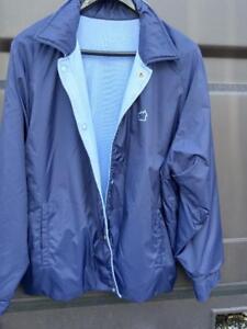 NEW Mens XL Paul Frank Reversible Fall Jacket Rain or Shine Nylon Cotton blue 46