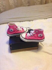 Original pink high top converse infant size