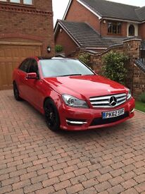 2012 62reg Mercedes-Benz C Class 2.1 C250 CDI BlueEFFICIENCY AMG Sport Plus