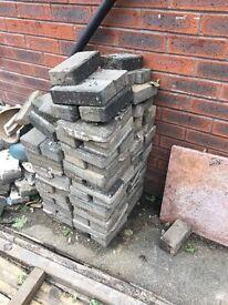 Grey paving bricks
