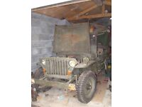 willys jeep wanted, or hotchkiss/ford